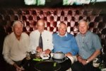 Derek Rowe, Eddie, Tony Bollom and Bobby Cheeseman at The London Ex Boxers Association